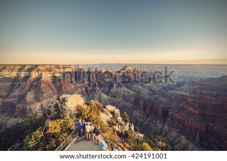 grand canyon  north rim  bright ...