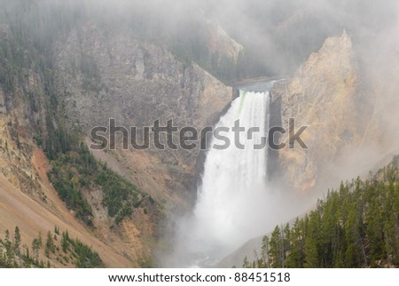 Grand Canyon of the Yellowstone and Lower Falls