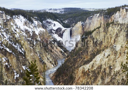 Grand Canyon of Yellowstone as seen from artist point