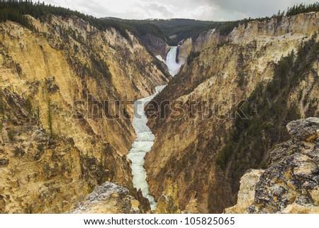 Grand Canyon of Yellowstone waterfall