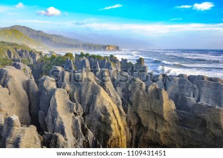 Grand Canyon Pancake Rocks Punakaiki, West Coast, South Island, New Zealand