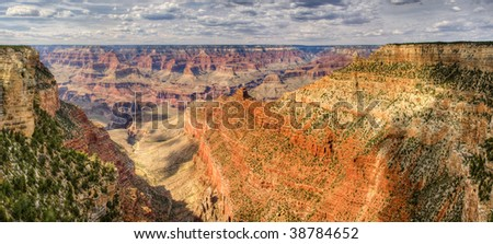 Grand Canyon Panorama.  View from Desert View Point