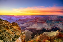 Grand Canyon South Rim, Sunset, Powell Point