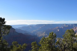 grand canyon view of mountain valley