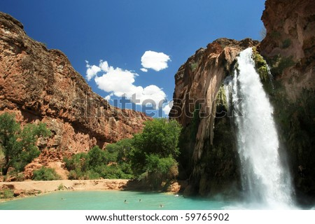 Grand Canyon waterfalls - stock photo