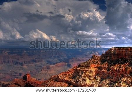 Grand Canyon with a storm approaching