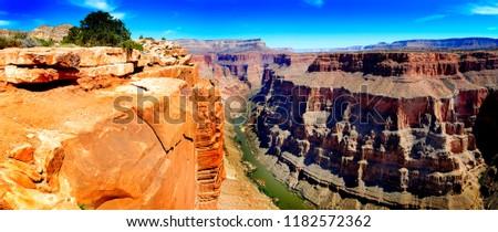 Grand Canyon with Colorado River deep gorge landmark