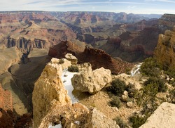 Grand Canyon with yellow rocks