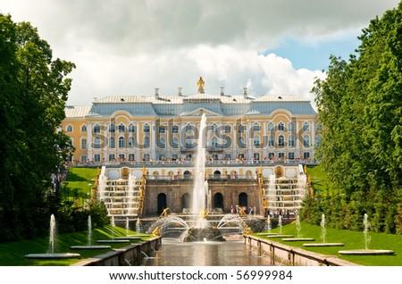 Grand cascade in Petergof, Saint-Petersburg, Russia. See more my photos of St.Petersburg: http://www.shutterstock.com/sets/14773-saint-petersburg-russia.html?rid=522649