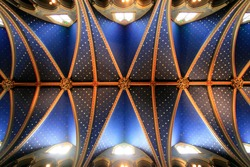 Grand Ceiling of Montreal's Notre-Dame Cathedral.