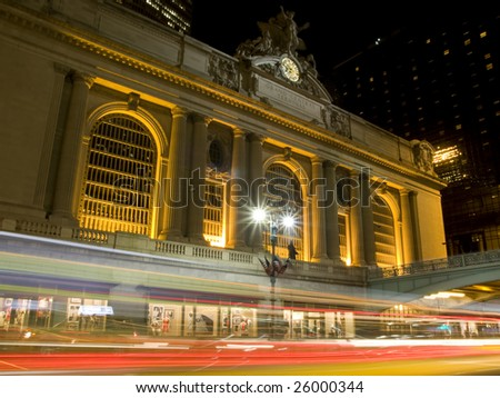 Grand Central Station in New York at Night.