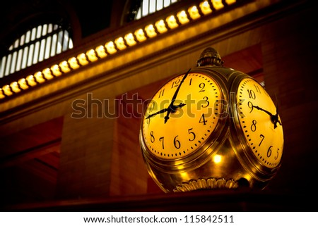 Grand Central Terminal Clock, New York, USA.