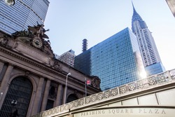 Grand Central Terminal in front of the chrysler building