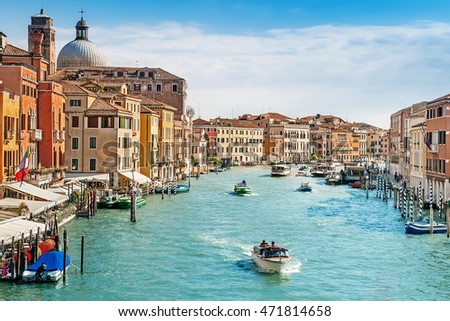 Grand Channel in Venice, Italy #471814658