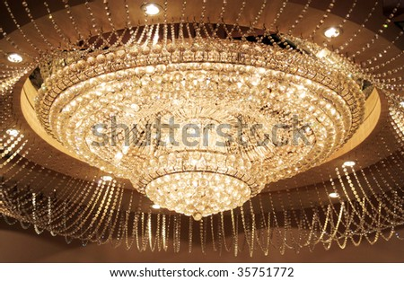 Grand Circular Crystal Chandelier