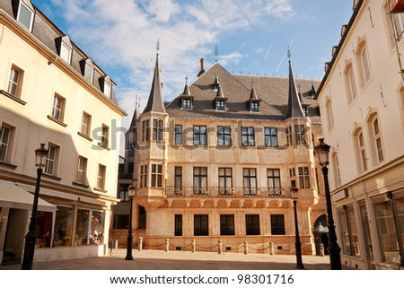 Grand Ducal Palace in sunny morning, Luxembourg city