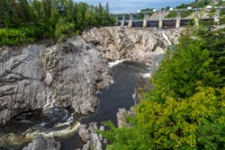 Grand falls in New Brunswick is a beautiful little town with this grand view