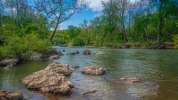 Grand Falls on Shoal Creek in Joplin, Missouri
