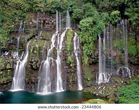 Grand Galet waterfall, Langevin River Valley, Reunion island