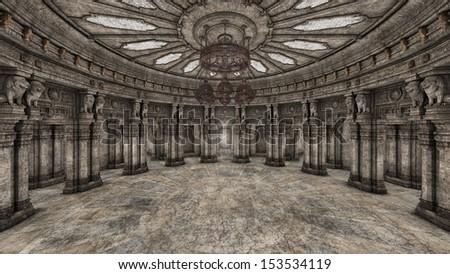 grand hall  - stock photo