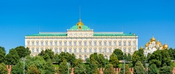 Grand Kremlin palace and Arkhangelsky Cathedral of Moscow Kremlin, Russia