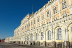 Grand Kremlin Palace, founded by Emperor Nicholas I, was built in 1838-1849 years, the object of cultural heritage, landmark