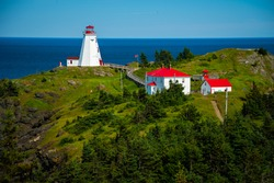 Grand Manan Lighthouse in Grand Manan Canada.