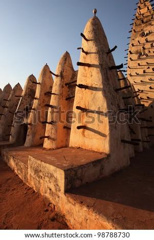 Grand Mosque in Burkina Faso, Bobo Dioulasso, Africa - stock photo