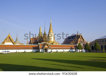 Grand Palace, the major tourism attraction in Bangkok, Thailand.