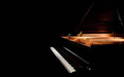 Grand piano, black piano , studio piano, Yamaha, classical music, stage