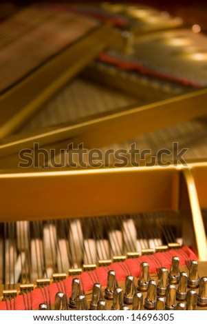 Grand Piano Hammers and Strings