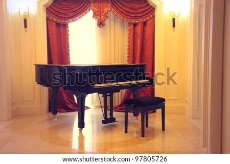Grand piano in a luxury interior