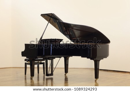 Grand piano indoors