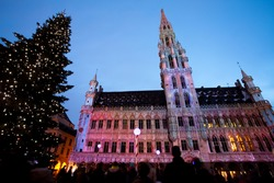 Grand Place, Brussels, at Christmas
