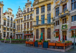 Grand Place (Grote Markt) in Brussels, Belgium. Grand Place is important tourist destination in Brussels. Cityscape of Brussels.