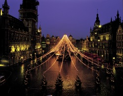 Grand place in Christmas