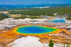 Grand Prismatic Spring in Yellowstone National Park