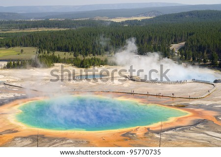 Grand Prismatic Spring in Yellowstone National Park, United States