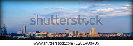 Grand Rapids Michigan skyline Panorama