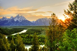 Grand Teton National Park at Snake River overlook