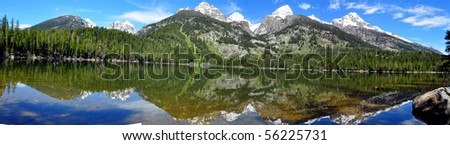 Grand Tetons from Bradley Lake, Grand Teton National Park, Wyoming
