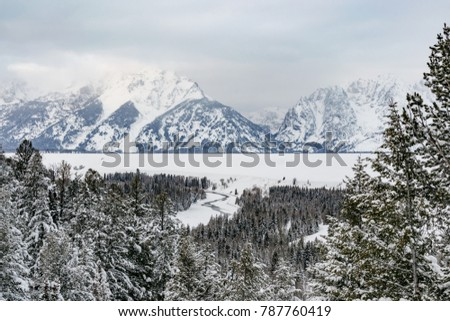 Grand Tetons in the Winter #787760419