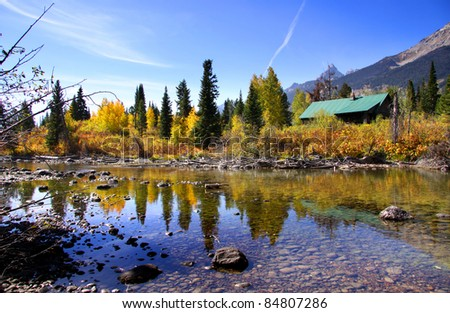 Grand Tetons National park in Autumn time