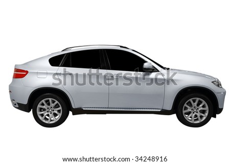 grand 4x4 suv isolated