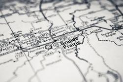 Grande Prairie on Usa travel map