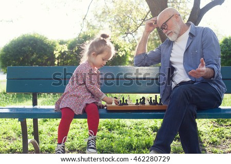 Grandfather and granddaughter spending time together #462280729