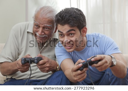 grandfather and grandson...