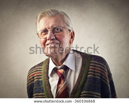Grandfather smiling