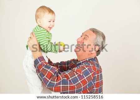 grandfather with child