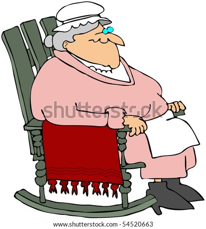 Rocking Chair Clipart grandma in a rocking chair stock photo 54520663 : shutterstock